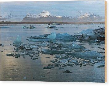 Wood Print featuring the photograph Jokulsarlon, The Glacier Lagoon, Iceland 5 by Dubi Roman