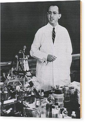 Jonas E. Salk 1914-1995, American Wood Print by Everett