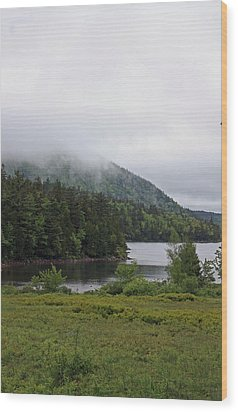 Jordan Pond Wood Print by Becca Brann