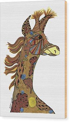 Josi Giraffe Wood Print