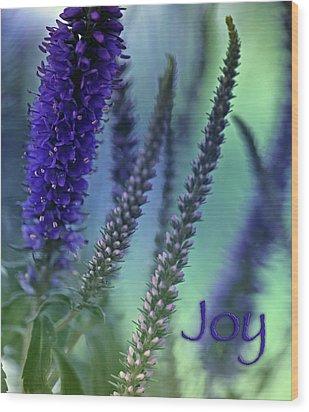 Joy Wood Print by Bonnie Bruno