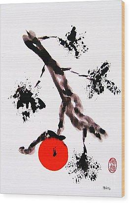 Jukushita Kaki Wood Print by Roberto Prusso