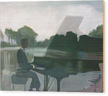 Justin Levitt Steinway Piano Spreckles Lake Wood Print