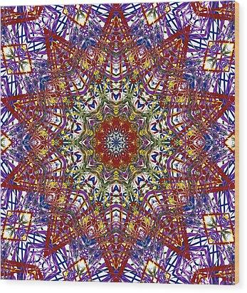 Kaleidoscope 414 Wood Print