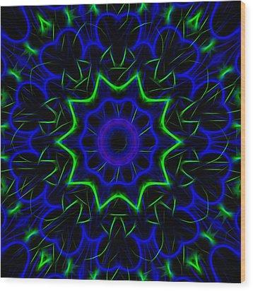 Kaleidoscope 449 Wood Print