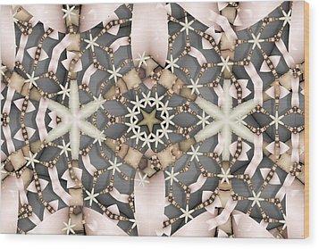 Wood Print featuring the digital art Kaleidoscope 97 by Ron Bissett