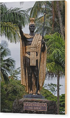 Kamehameha The Great Wood Print by Christopher Holmes