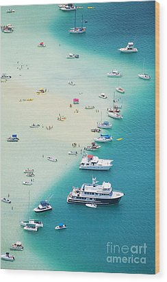 Kaneohe Bay, Boats Wood Print by Ron Dahlquist - Printscapes