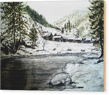 Kashmir  Wood Print