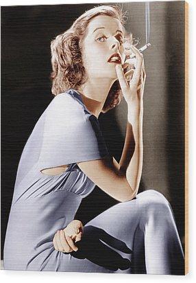 Katharine Hepburn, Ca. 1930s Wood Print by Everett