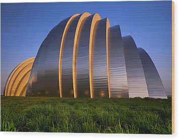 Kauffman Center Wood Print by Ryan Heffron