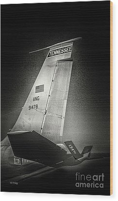 Kc_135 In Flight Refueling Tanker Wood Print
