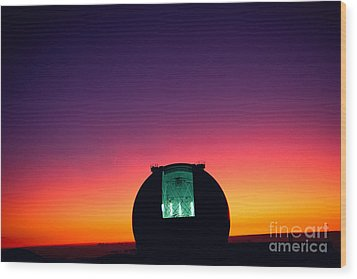 Keck Observatory Wood Print by Peter French - Printscapes