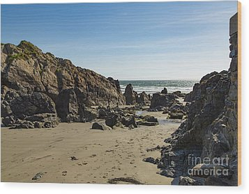 Wood Print featuring the photograph Kennack Sands by Brian Roscorla
