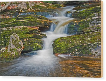 Kent Falls Wood Print