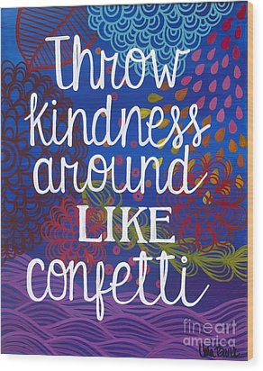 Wood Print featuring the painting Kindness by Carla Bank