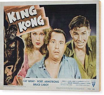 King Kong, Fay Wray, Robert Armstrong Wood Print by Everett