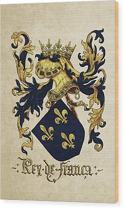 King Of France Coat Of Arms - Livro Do Armeiro-mor  Wood Print by Serge Averbukh