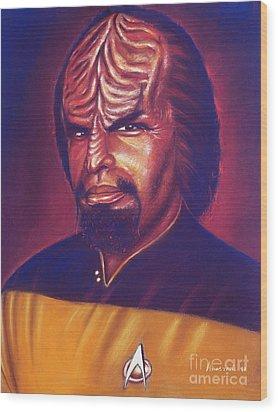Klingon Star Trek Wood Print by Anastasis  Anastasi