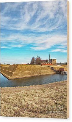 Wood Print featuring the photograph Kronborg Castle In Helsingor by Antony McAulay
