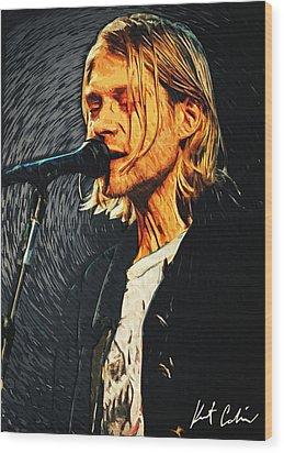 Kurt Cobain Wood Print by Taylan Apukovska