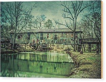 Kymulga Covered Bridge Wood Print by Phillip Burrow