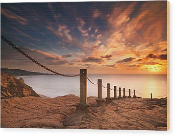 La Jolla Sunset 2 Wood Print by Larry Marshall