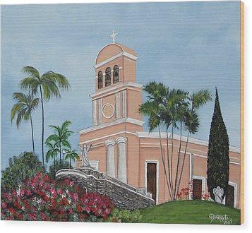La Monserrate Wood Print by Gloria E Barreto-Rodriguez