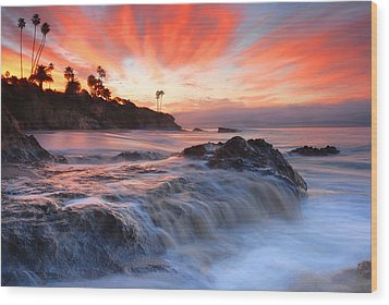 Laguna Beach Sunrise Wood Print