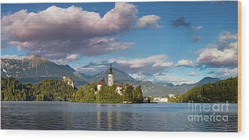Wood Print featuring the photograph Lake Bled Panoramic by Brian Jannsen
