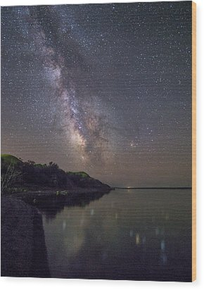 Wood Print featuring the photograph Lake Oahe  by Aaron J Groen
