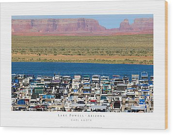 Lake Powell Arizona Wood Print by Carl Amoth