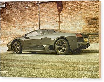 Lamborghini Wood Print by Hristo Hristov