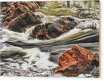 Lamina Flow Wood Print by Blair Stuart