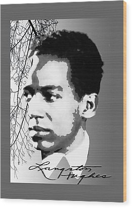 Langston Hughes Wood Print