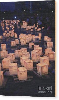 Lantern Ceremony Wood Print by Brandon Tabiolo - Printscapes