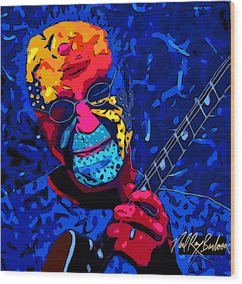 Larry Carlton Wood Print
