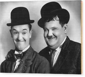 Laurel And Hardy Wood Print by Everett