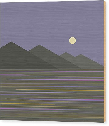 Wood Print featuring the digital art Lavender Sky  Reflections by Val Arie