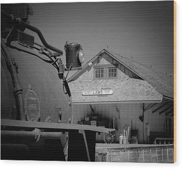 Laws Depot And Locomotive 9 Wood Print by Troy Montemayor