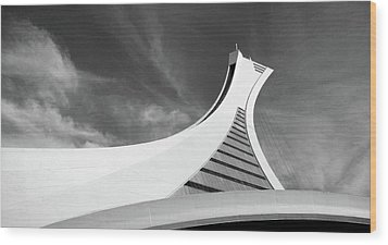 Wood Print featuring the photograph Le Stade Olympique De Montreal by Juergen Weiss