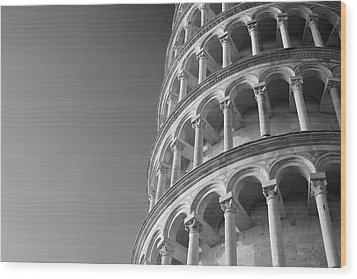 Wood Print featuring the photograph Leaning Tower Of Pisa by Richard Goodrich