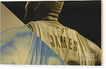 Lebron James Collection Wood Print