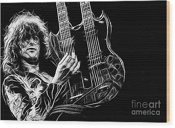 Led Zeppelin Jimmy Page Wood Print