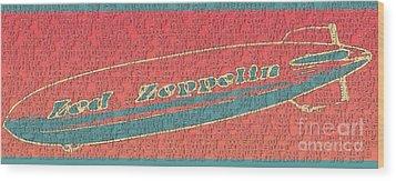 Led Zeppelin Wood Print by RJ Aguilar