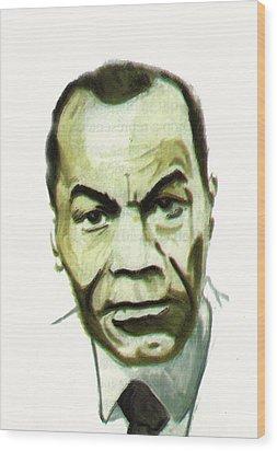 Leon Gontran Damas Wood Print by Emmanuel Baliyanga