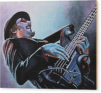 Les Claypool Wood Print by Al  Molina