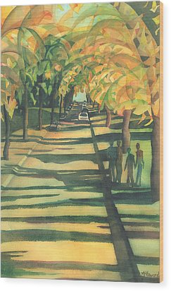 Lethbridge Gold Wood Print by Anne Havard