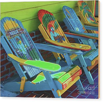 License To Chill Wood Print by Debbi Granruth