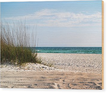 Wood Print featuring the photograph Lido Beach by Athala Carole Bruckner